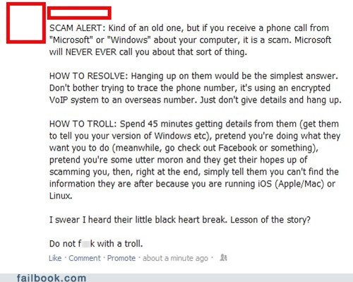 apple linux mac microsoft scam scam fail scammer trolling windows