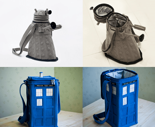 dalek doctor who purses tardis