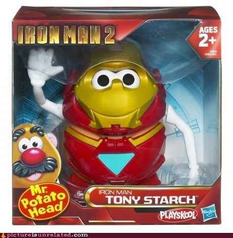 iron man potato starch tony stark toy - 6596397568