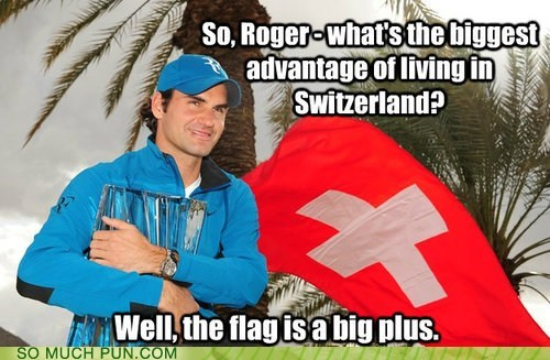 double meaning,flag,literalism,plus,roger federer,Switzerland