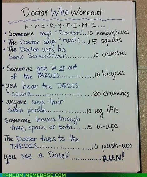 doctor who fitness scifi workout