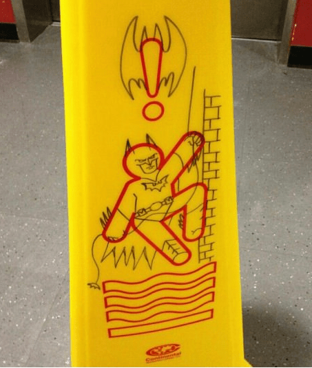 batman wet floor sign - 6596552704
