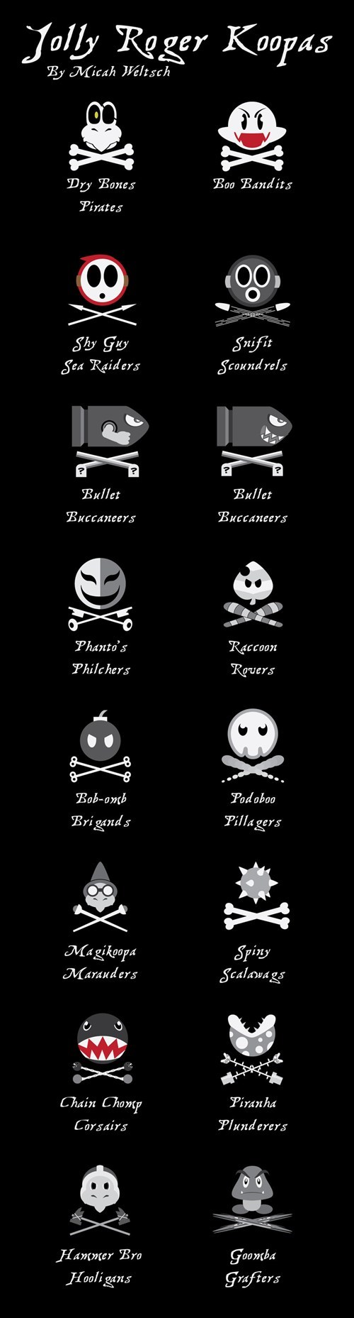 art emblems jolly rogers mario Pirate talk like a pirate - 6596594944