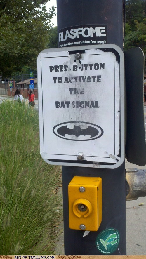 Bat signal crosswalk IRL - 6596601088