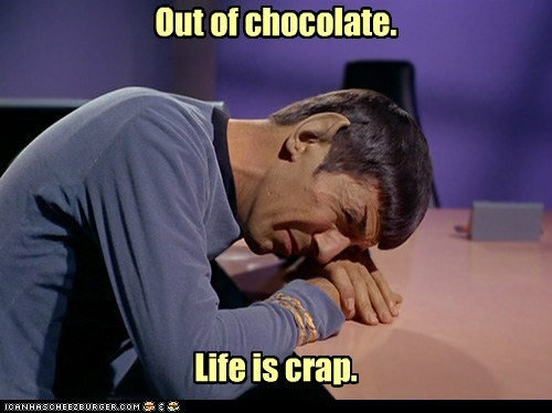Leonard Nimoy Spock chocolate crap Sad our crying - 6596603648