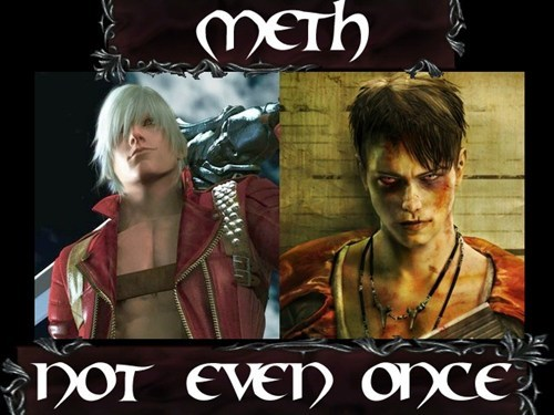 devil may cry meme meth Not Even Once