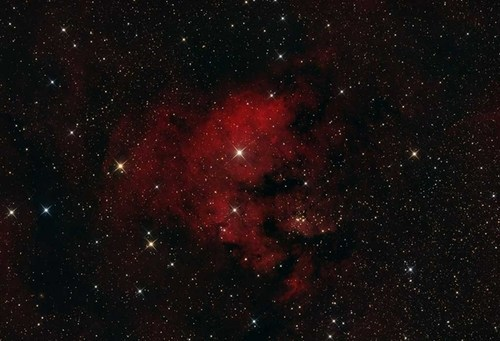 Astronomy cederblad 214 nebula red stars