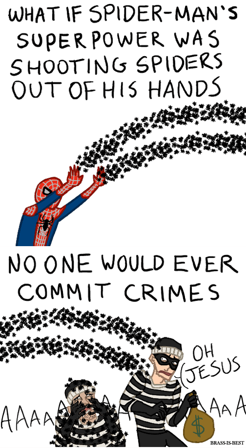 art funny illustration Spider-Man - 6596661248