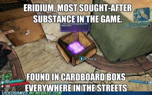 borderlands 2,eridium,video game logic