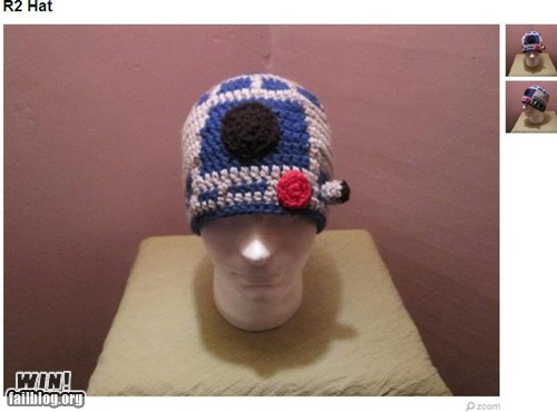cap Knitta Please knitting nerdgasm r2-d2 star wars - 6596674304