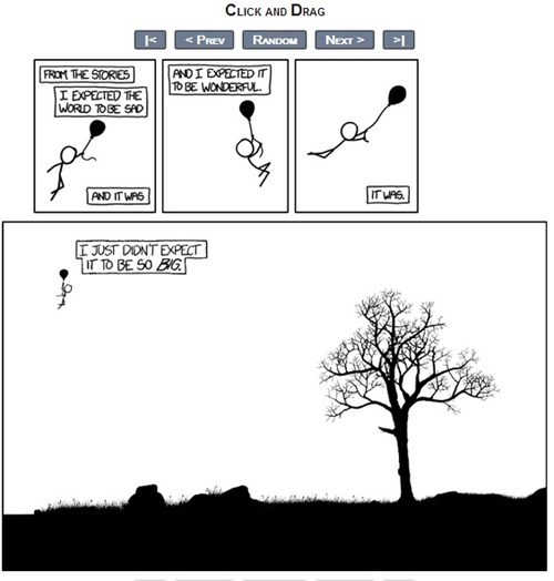 click and drag huge map Time Waster whoa xkcd
