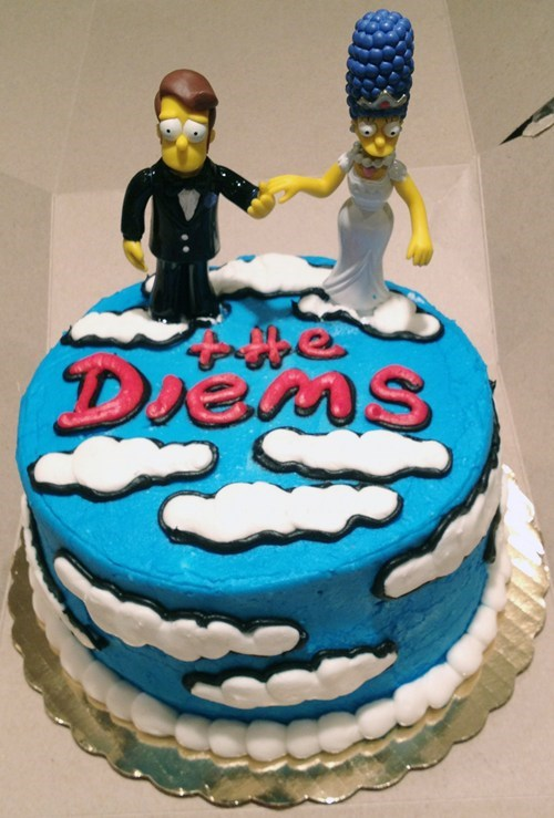 cake grooms-cake home icing marge simpsons - 6596834304