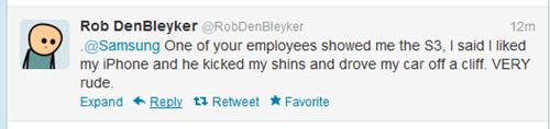 apple iphone kicked in the shins rob denbleyker Samsung - 6596862720
