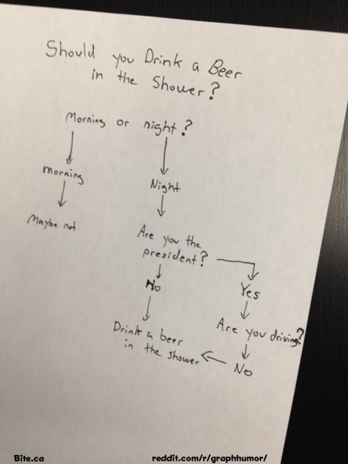 alcoholism beer flow chart shower - 6596933120