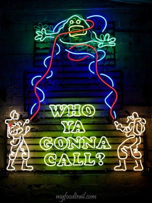 bar food Ghostbusters neon nerdgasm restaurant - 6596976896