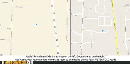 apple maps google maps ios 6 operating system
