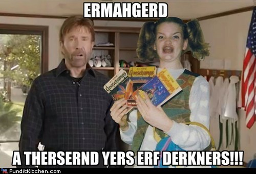 chuck norris darkness Ermahgerd obama quote Video