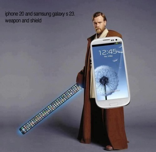 apple,galaxy,iphone,obi-wan kenobi,phones,Samsung,g rated,AutocoWrecks