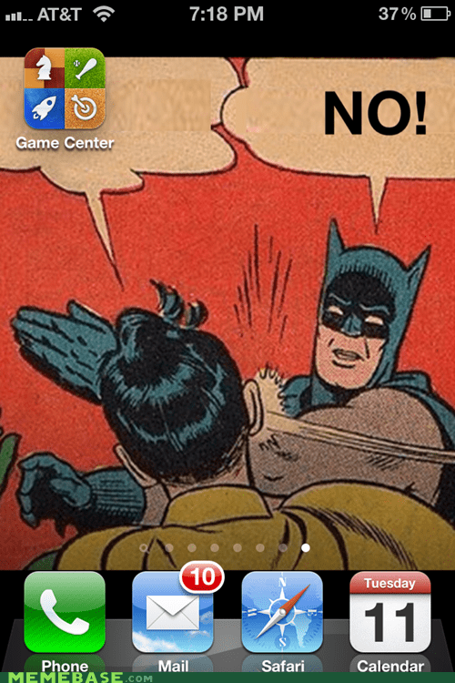 batman,enough,gamecenter,iphone,no,slap