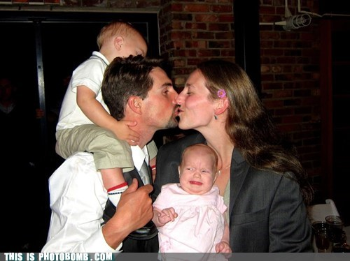 baby,couple,kissing,parents