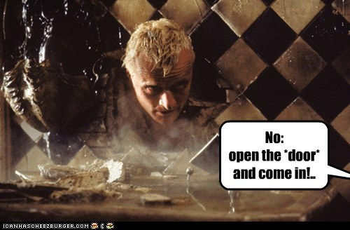 Rutger Hauer roy batty replicant Blade Runner door mistake wall - 6597880064