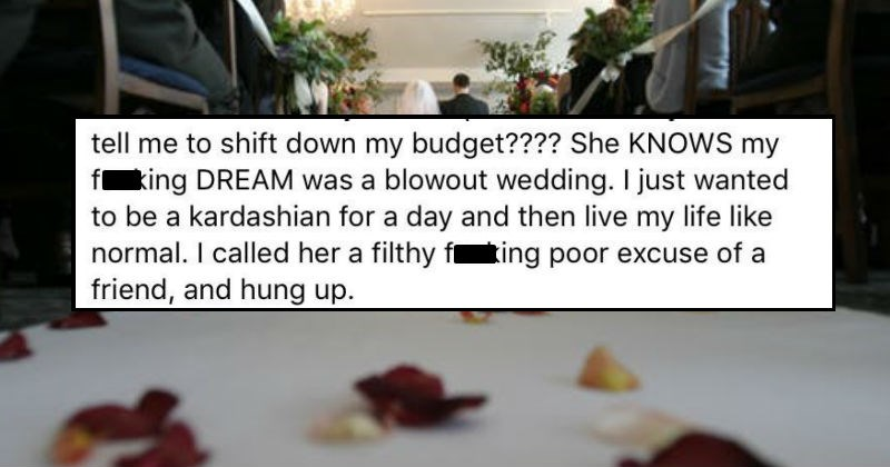 bridezilla cancels wedding outside of her budget