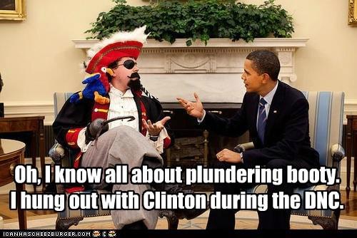 barack obama bill clinton dnc Pirate - 6598153472