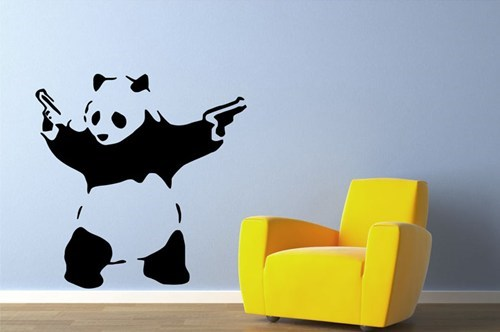banksy living social vinyl wall decals - 6598342656