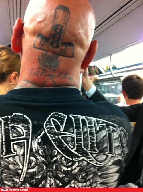 head tattoos upside down cross - 6598350080