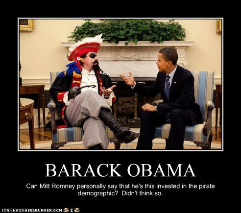Pirate barack obama Mitt Romney demographic invested - 6598390272