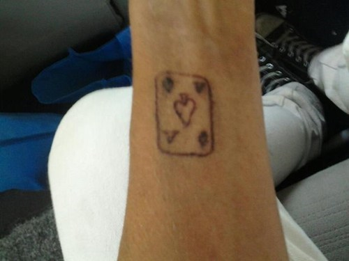 ace arm tattoos playing cards