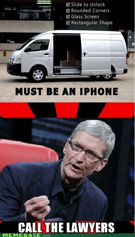 iphone,Lawyers,Patents,Square,van
