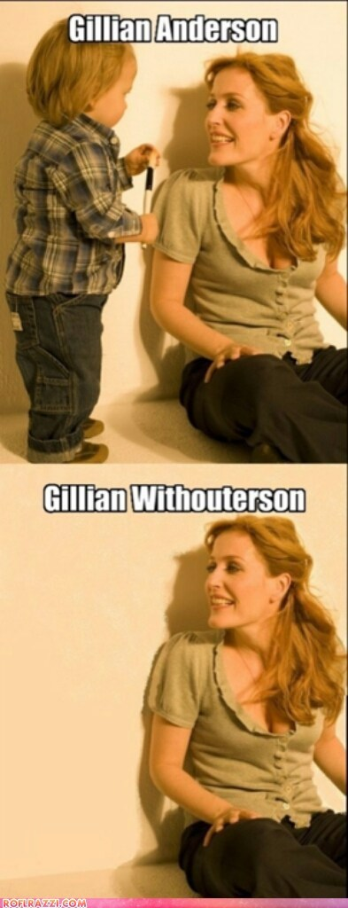 actor celeb funny gillian anderson surname with without - 6598463488
