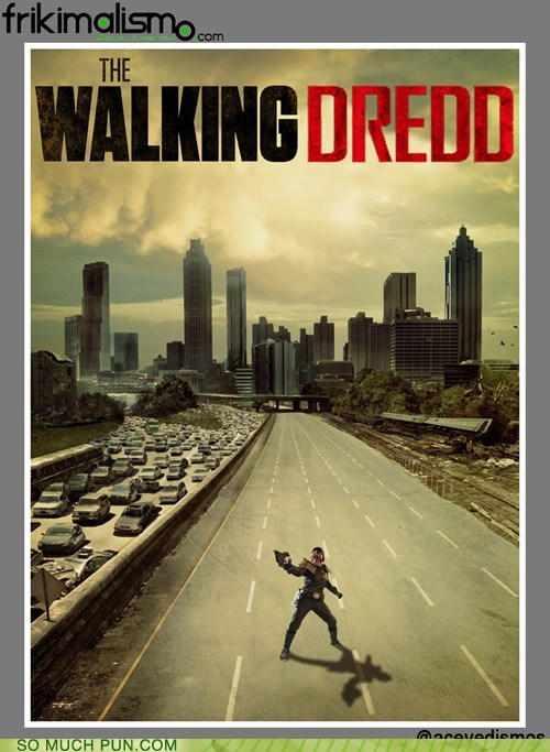 judge dredd,juxtaposition,rhyming,shoop,similar sounding,The Walking Dead