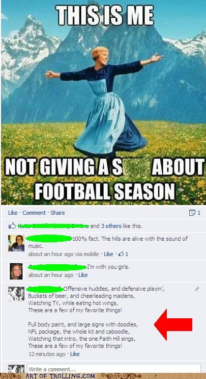 facebook football sound of music