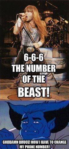 beast iron maiden x men - 6598576896