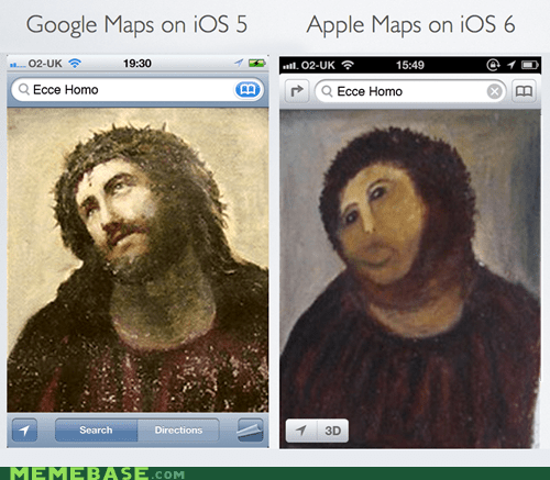 apple,apple maps,google maps,ios,jesus