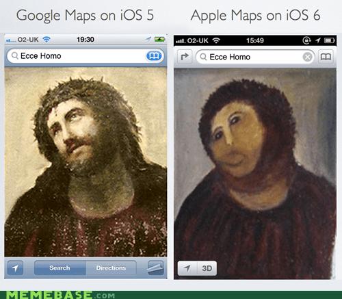 apple apple maps google maps ios jesus - 6598656000