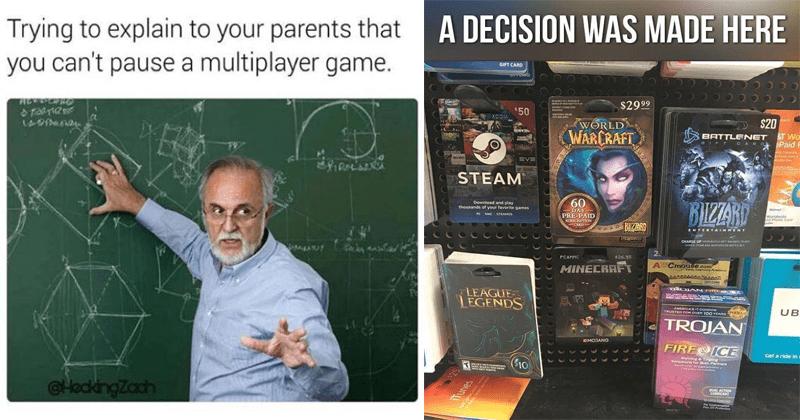 Funny gaming memes and comics.