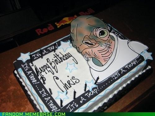 admiral ackbar,cake,its a trap,Memes