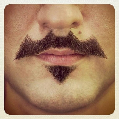 batman facial hair fashion mustache
