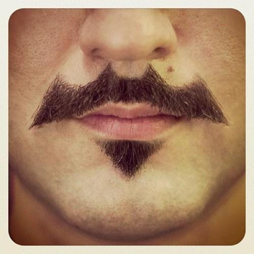 batman facial hair fashion mustache - 6598854144