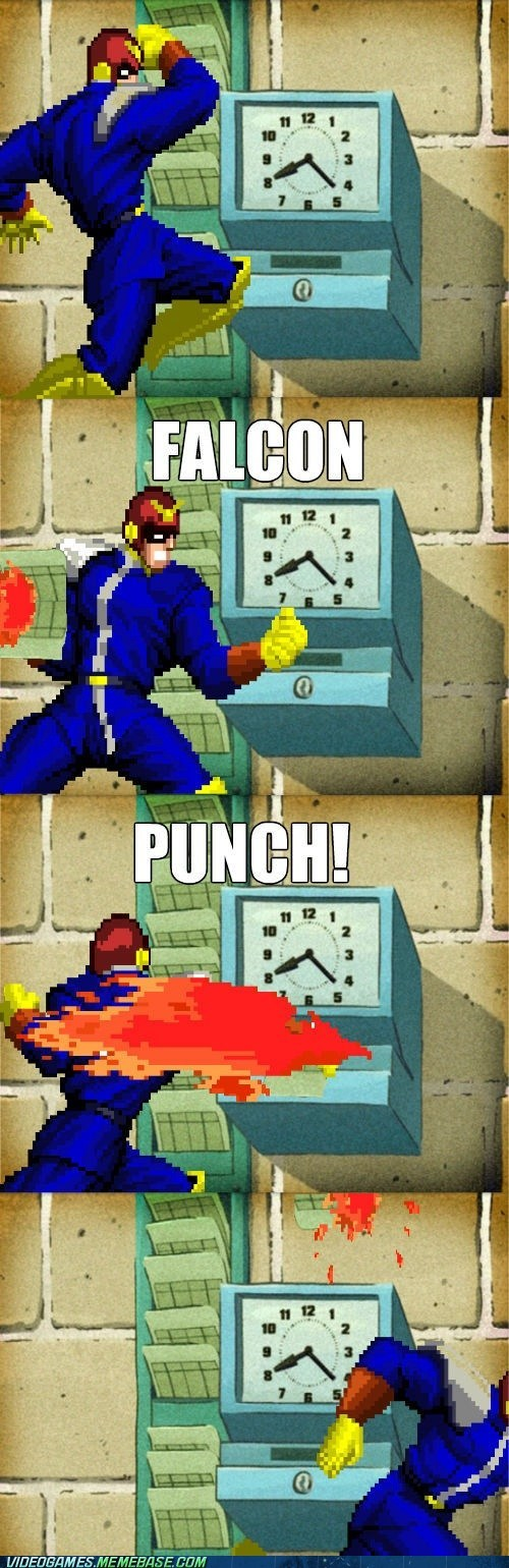 captain falcon falcon punch punching out work - 6598915328