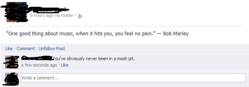 bob marley,facebook,mosh pit
