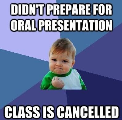 class is cancelled good study habits oral presentation success kid - 6598965504