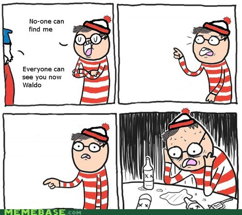 new meme,Overconfident Alcoholic,this guy,waldo