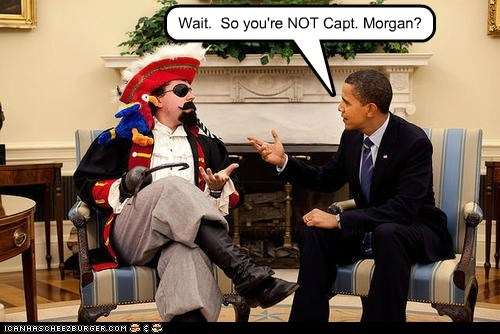 barack obama captain morgan confused Pirate Rum wait - 6599048704