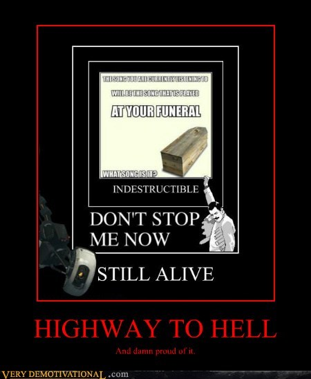 awesome funeral highway to hell song