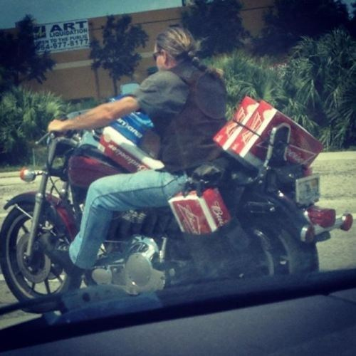 beer cars delivery driving motorcycle Party safety