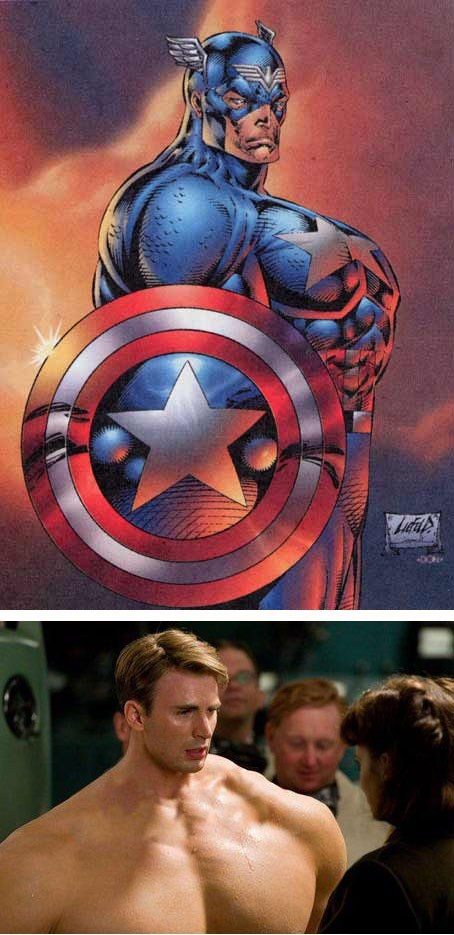 actor captain america celeb chris evans funny shoop